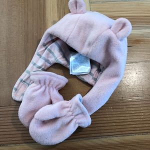 Baby Gap fleece hat & mitten Set 6-12 months